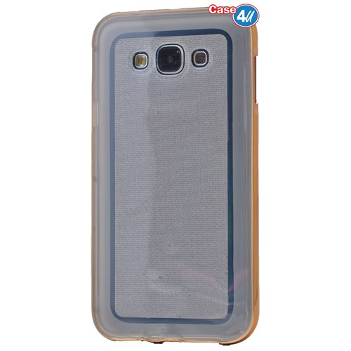 Case 4U Samsung Galaxy Grand Duos Çerçeveli Silikon Kılıf Altın