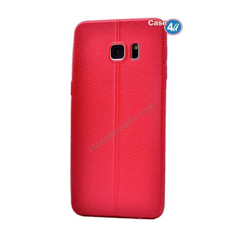 Case 4U Samsung Galaxy S6 Edge Plus Parlak Desenli Silikon Kılıf Kırmızı