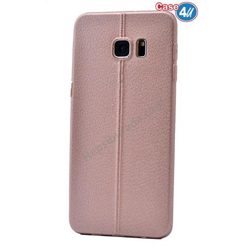 Case 4U Samsung Galaxy S6 Edge Parlak Desenli Silikon Kılıf Rose Gold