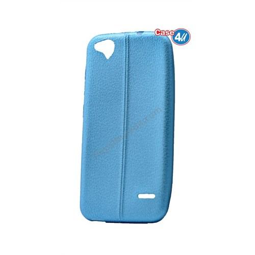 Case 4U Turkcell T60 Parlak Desenli Silikon Kılıf Mavi