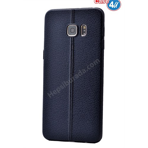 Case 4U Samsung Galaxy S6 Parlak Desenli Silikon Kılıf Lacivert