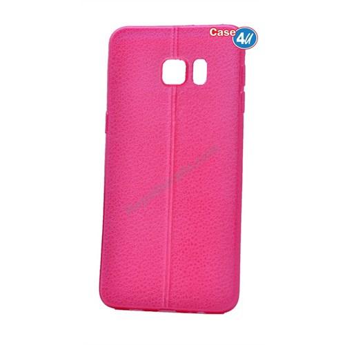 Case 4U Samsung Galaxy S6 Parlak Desenli Silikon Kılıf Pembe