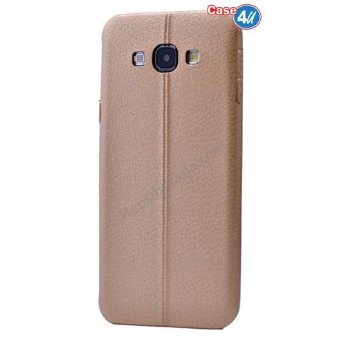 Case 4U Samsung A7 Parlak Desenli Silikon Kılıf Koyu Altın