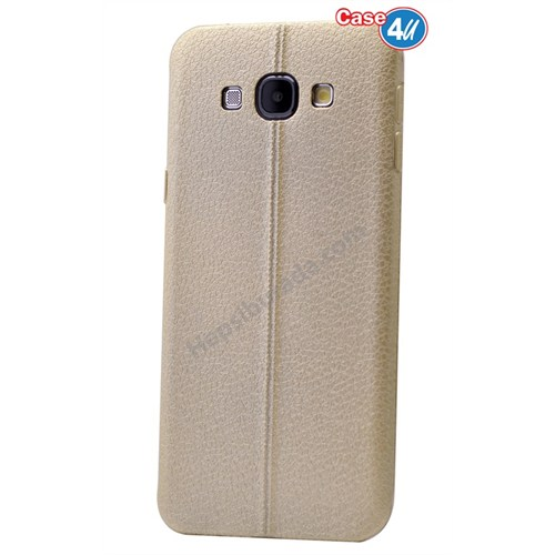 Case 4U Samsung A8 Parlak Desenli Silikon Kılıf Altın