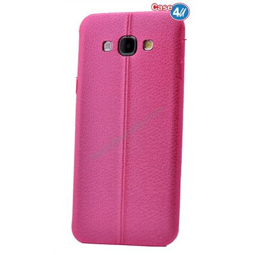 Case 4U Samsung A8 Parlak Desenli Silikon Kılıf Pembe
