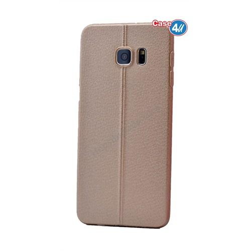 Case 4U Samsung Galaxy S6 Edge Parlak Desenli Silikon Kılıf Altın