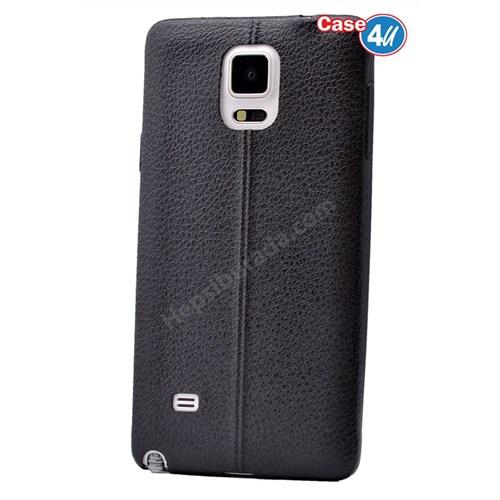 Case 4U Samsung Galaxy Note 4 Parlak Desenli Silikon Kılıf Siyah