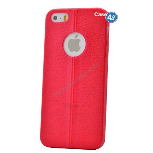 Case 4U Apple İphone 5S Parlak Desenli Silikon Kılıf Kırmızı