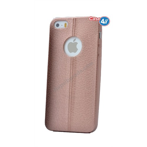 Case 4U Apple İphone 5S Parlak Desenli Silikon Kılıf Rose Gold