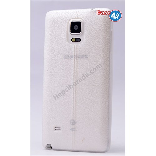 Case 4U Samsung Galaxy Note 3 Parlak Desenli Silikon Kılıf Beyaz