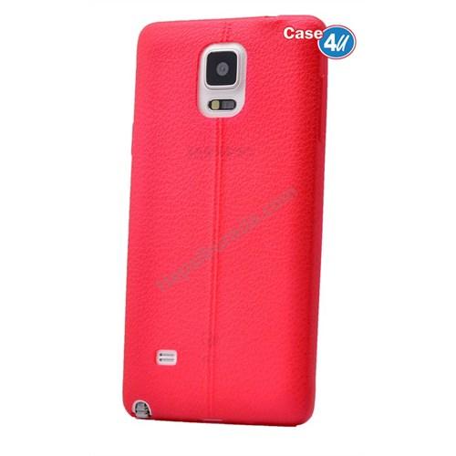 Case 4U Samsung Galaxy Note 3 Parlak Desenli Silikon Kılıf Kırmızı