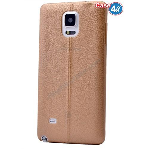 Case 4U Samsung Galaxy Note 4 Parlak Desenli Silikon Kılıf Altın