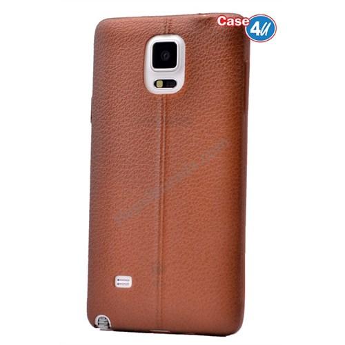 Case 4U Samsung Galaxy Note 4 Parlak Desenli Silikon Kılıf Kahverengi