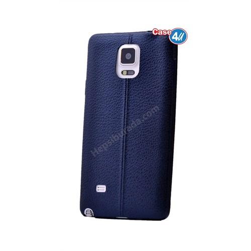 Case 4U Samsung Galaxy Note 4 Parlak Desenli Silikon Kılıf Lacivert