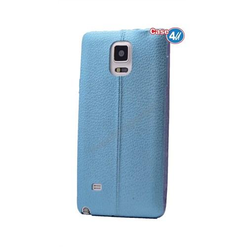 Case 4U Samsung Galaxy Note 4 Parlak Desenli Silikon Kılıf Mavi