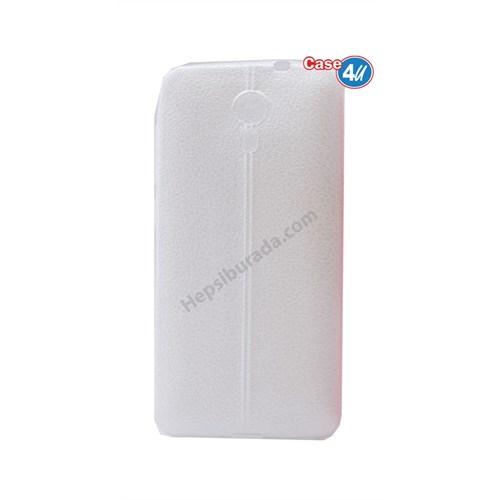 Case 4U General Mobile 4G Andorid One Parlak Desenli Silikon Kılıf Beyaz