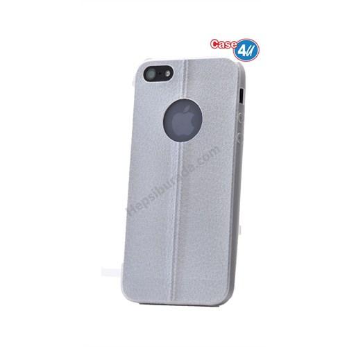 Case 4U Apple İphone 5 Parlak Desenli Silikon Kılıf Beyaz