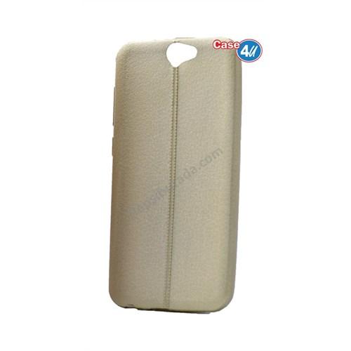 Case 4U Htc One A9 Parlak Desenli Silikon Kılıf Altın