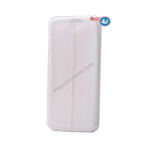 Case 4U Htc One A9 Parlak Desenli Silikon Kılıf Beyaz
