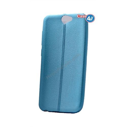 Case 4U Htc One A9 Parlak Desenli Silikon Kılıf Mavi