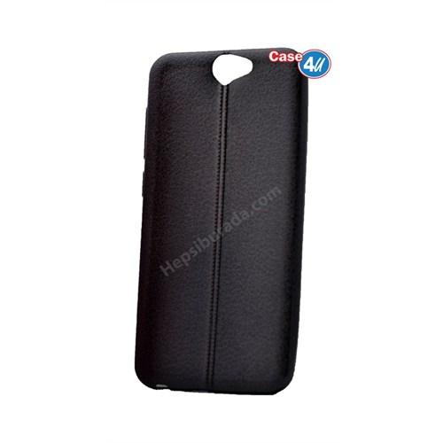 Case 4U Htc One A9 Parlak Desenli Silikon Kılıf Siyah