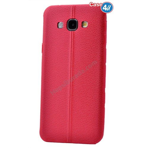 Case 4U Samsung J5 Parlak Desenli Silikon Kılıf Kırmızı