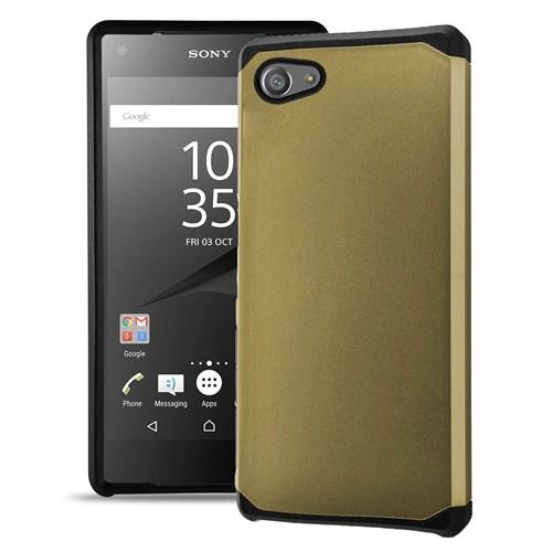 Microsonic Sony Xperia Z5 Compact (Z5 Mini) Kılıf Slim Fit Dual Layer Armor Gold