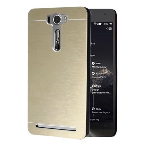Microsonic Asus Zenfone 2 Laser 5.0 İnch Kılıf Hybrid Metal Gold