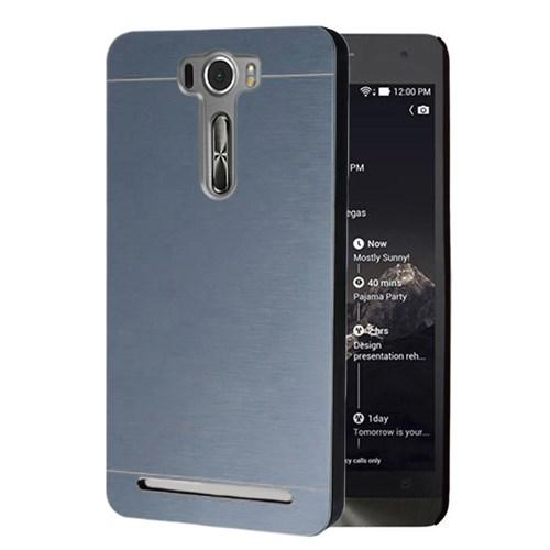 Microsonic Asus Zenfone 2 Laser 5.0 İnch Kılıf Hybrid Metal Mavi