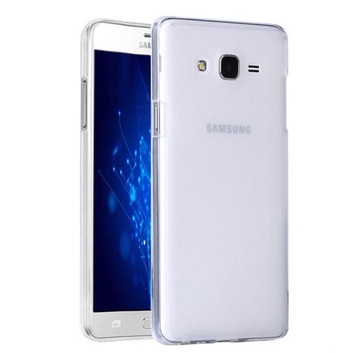 Microsonic Samsung Galaxy On7 Kılıf Transparent Soft Beyaz