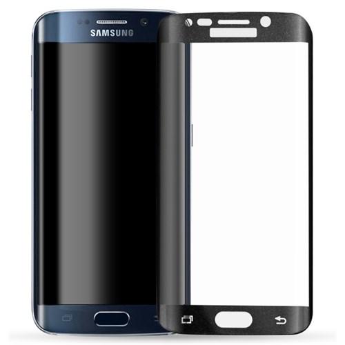 Microsonic Samsung Galaxy S6 Edge 3D Kavisli Temperli Cam Ekran Koruyucu Kırılmaz Film Siyah