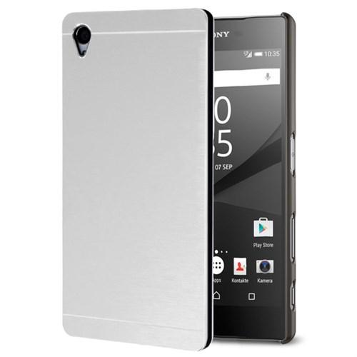 Microsonic Sony Xperia Z5 Kılıf Hybrid Metal Gümüş