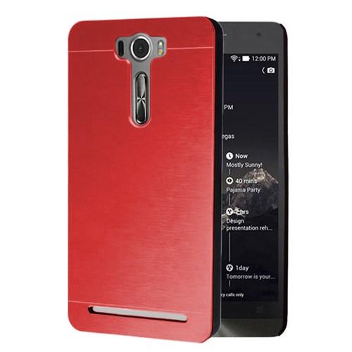 Microsonic Asus Zenfone 2 Laser 5.0 İnch Kılıf Hybrid Metal Kırmızı