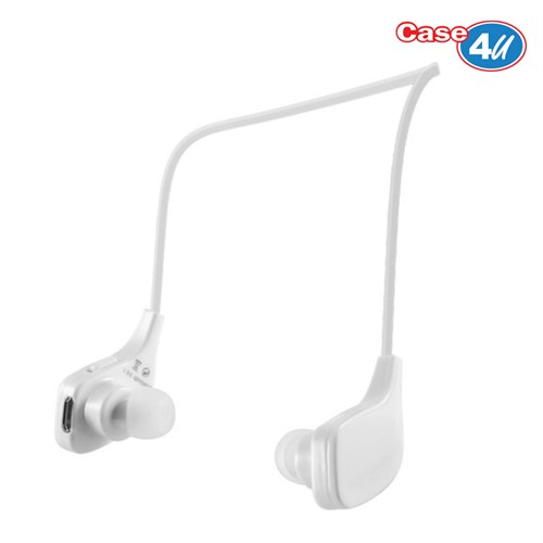Case 4U Kablosuz Bluetooth Stereo Sporcu Kulaklık BT534 Beyaz*(iOS ve Android Uyumlu)