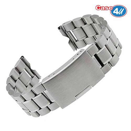 Case 4U Samsung Gear S2 Classic Metal Saat Kayışı Gümüş