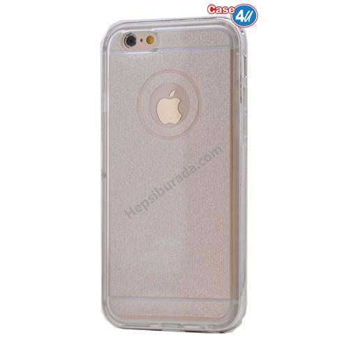 Case 4U Apple İphone 6 Çerçeveli Silikon Kılıf Şeffaf