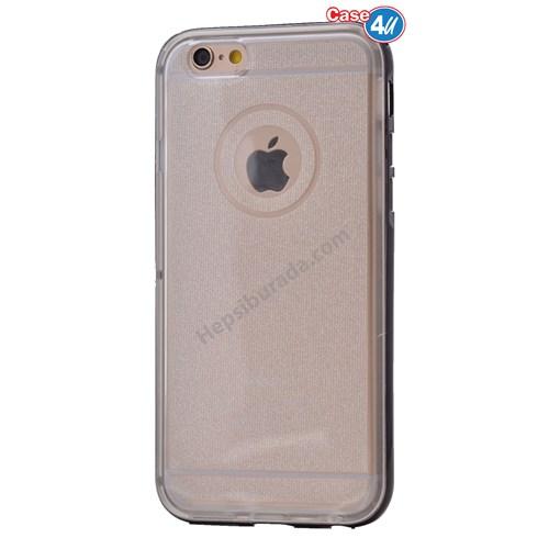 Case 4U Apple İphone 6 Plus Çerçeveli Silikon Kılıf Siyah
