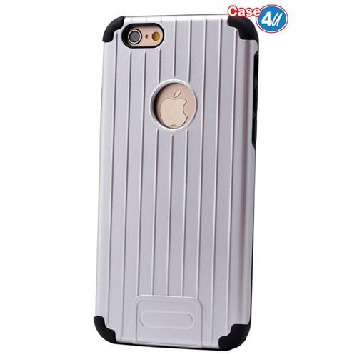 Case 4U Apple İphone 6 Verse Korumalı Kapak Gümüş