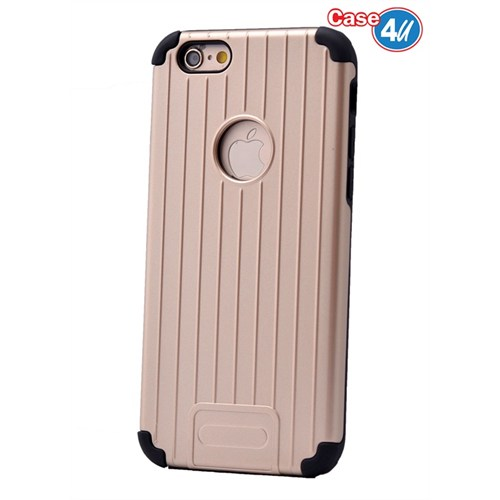 Case 4U Apple İphone 6 Plus Verse Korumalı Kapak Altın
