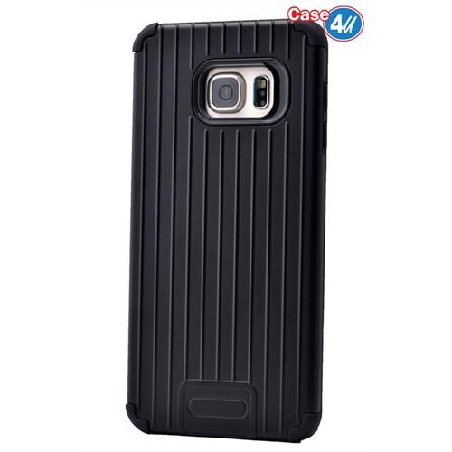 Case 4U Samsung Galaxy S6 Edge Plus Verse Korumalı Kapak Siyah