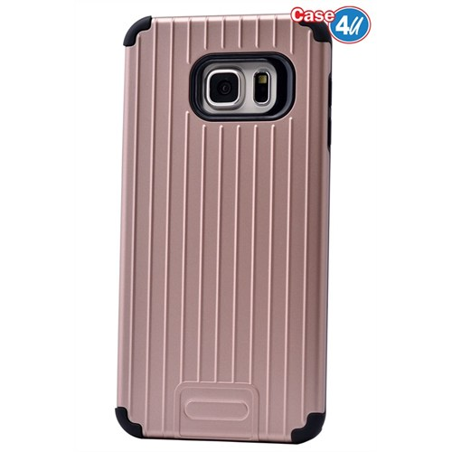 Case 4U Samsung Galaxy S6 Edge Plus Verse Korumalı Kapak Rose Gold