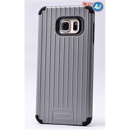Case 4U Samsung Galaxy S6 Edge Plus Verse Korumalı Kapak Koyu Gri