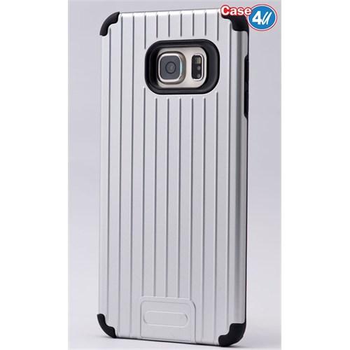 Case 4U Samsung Galaxy S6 Edge Plus Verse Korumalı Kapak Gri