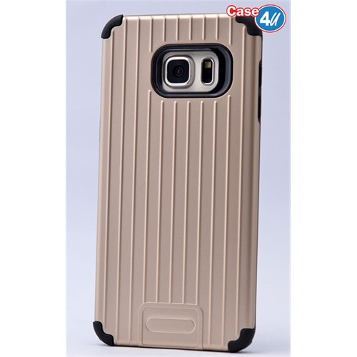 Case 4U Samsung Galaxy S6 Edge Plus Verse Korumalı Kapak Altın