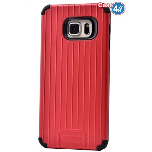 Case 4U Samsung Galaxy Note 5 Verse Korumalı Kapak Kırmızı