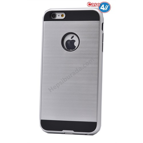Case 4U Apple İphone 5S Verus Korumalı Kapak Gümüş