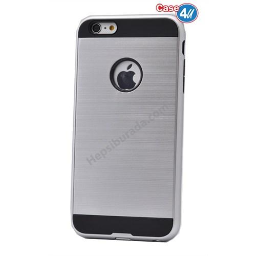 Case 4U Apple İphone 4 Verus Korumalı Kapak Gümüş