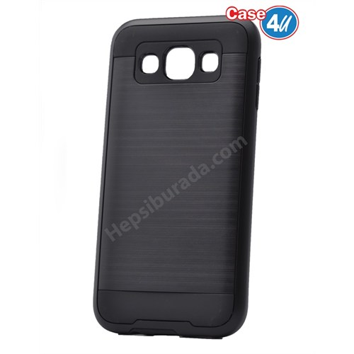 Case 4U Samsung Galaxy E5 Verus Korumalı Kapak Siyah