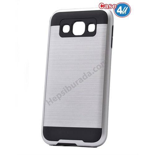 Case 4U Samsung Galaxy E7 Verus Korumalı Kapak Gümüş