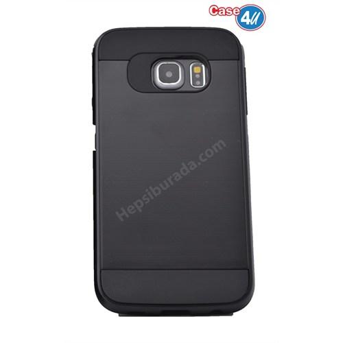 Case 4U Samsung Galaxy S6 Verus Korumalı Kapak Siyah